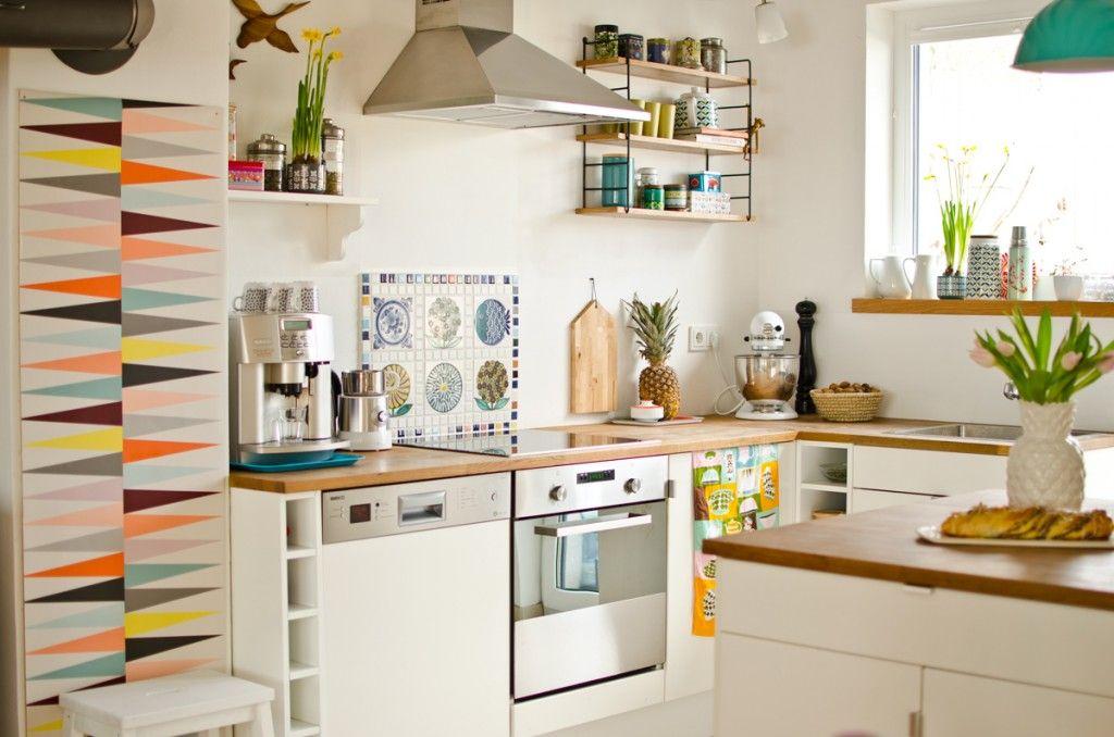 abwaschbare farbe k che. Black Bedroom Furniture Sets. Home Design Ideas