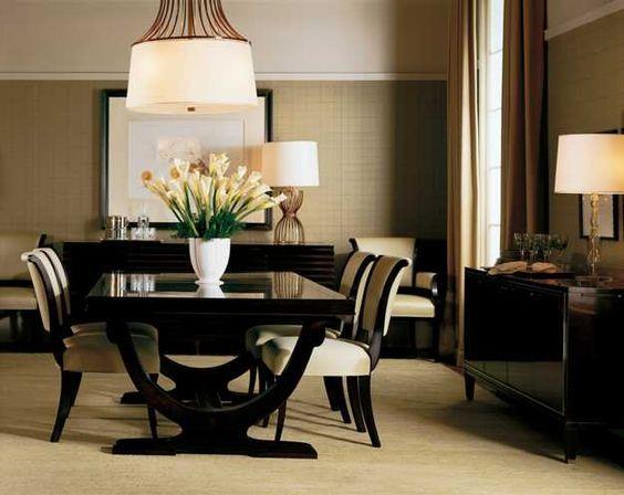 Decoracion de comedores elegantes gran via pinterest for Muebles de comedor elegantes