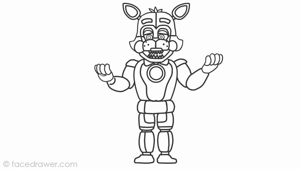 Funtime Freddy Coloring Page Elegant Learn How To Draw Easy Funtime Foxy From Fnaf Sister Location Step In 2020 Fnaf Coloring Pages Coloring Pages Snake Coloring Pages