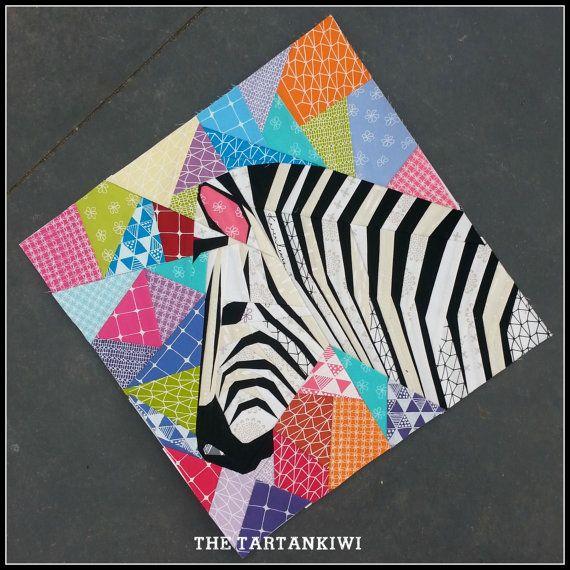 20 Inch Zebra In Profile Foundation Paper Pieced Quilt Pattern Elephant Quilts Pattern Elephant Paper Piecing Foundation Paper Piecing