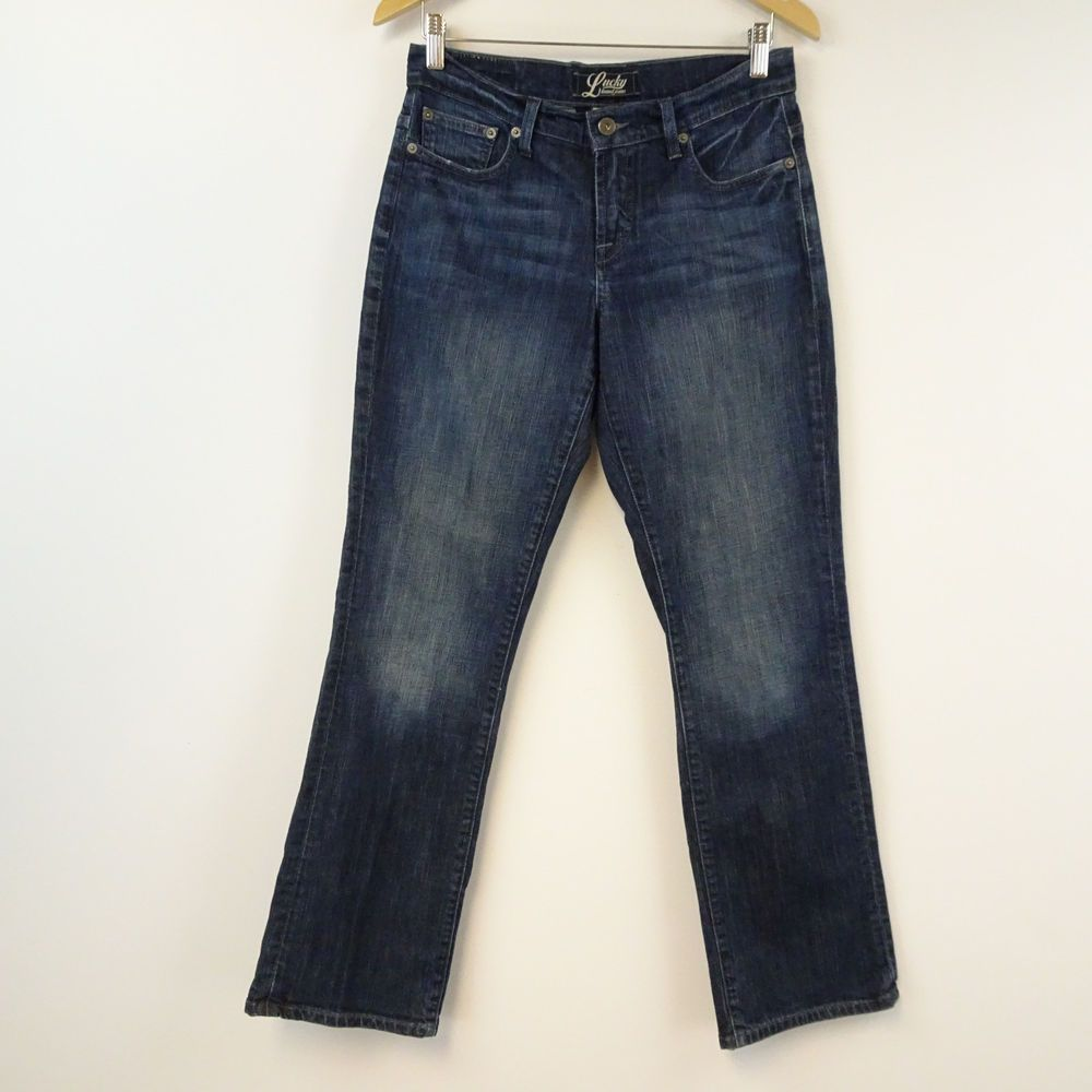 Lucky Brand Women's Jeans Straight Mid Rise Stretch Denim