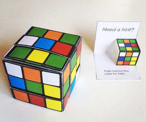 Paper Rubik S Cube Rubiks Cube Cube Template Paper Cube
