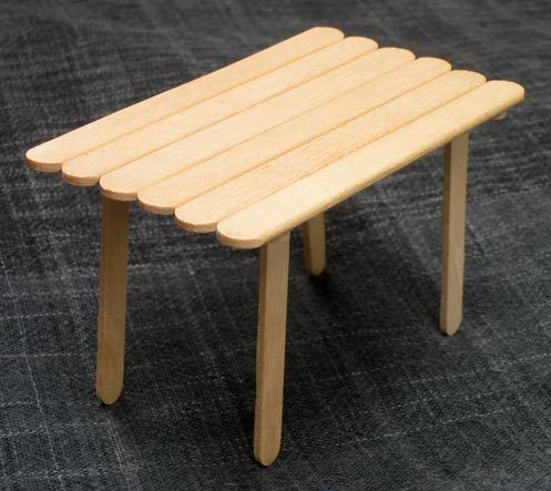 popsicle stick table