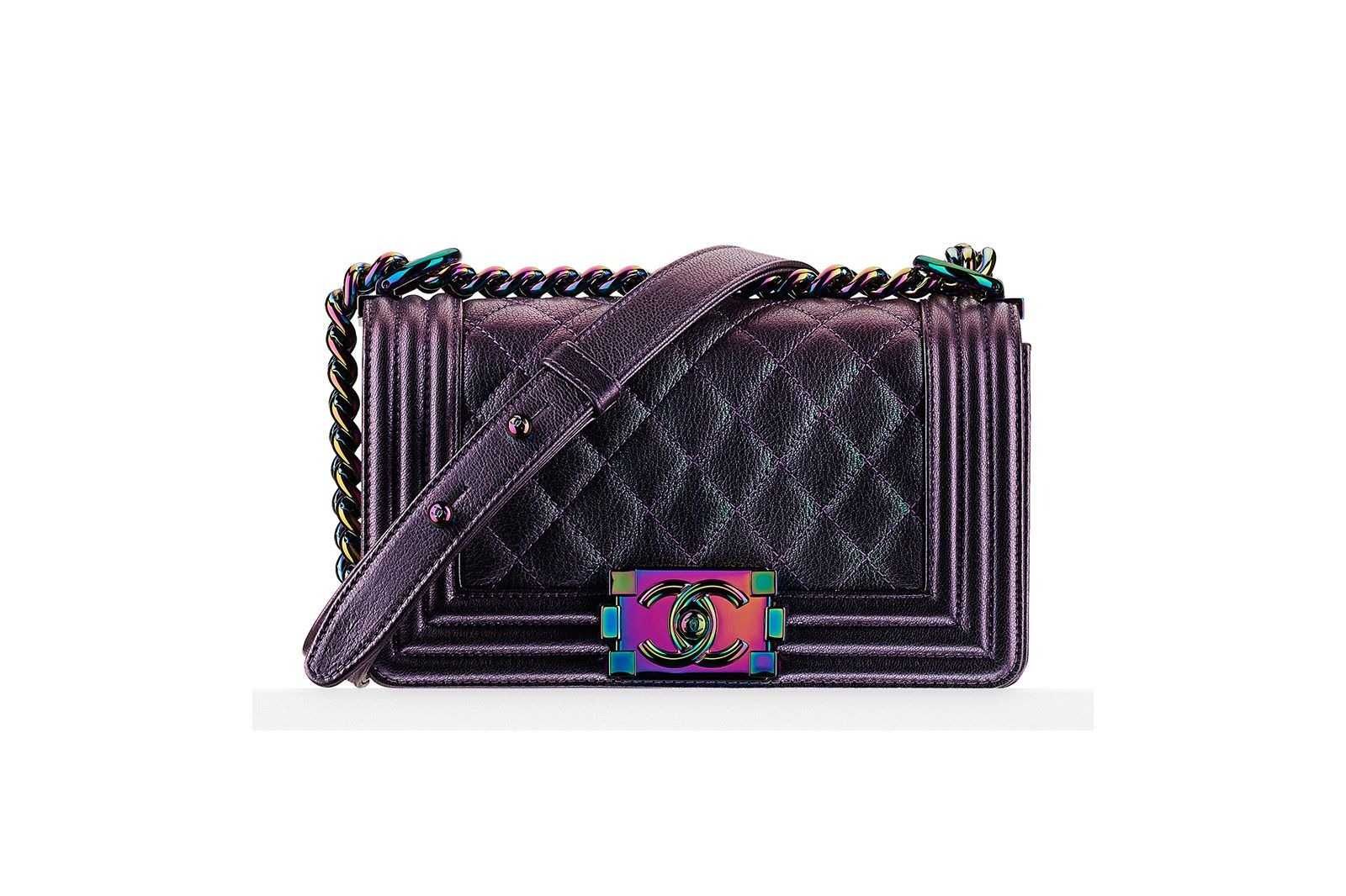 CHANEL IRIDESCENT SMALL BOY BAG $4,300 USD