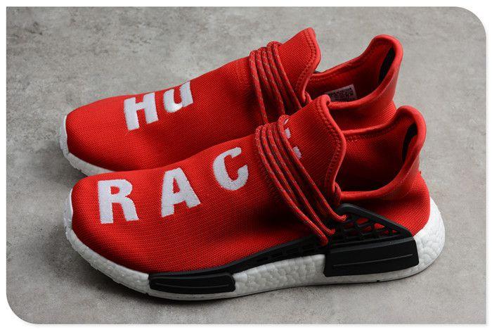 38252a1a6 Pharrell x adidas NMD Human Race Red Footwear White-Black BB0616  www.nmdhumanrace2019.com