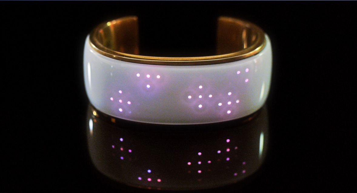 Elemoon $199 - Elemoon is the world's first smart accessory that lets you change its light designs to match every outfit or occasion. elemoon can also alert you to important calls, find your phone if you lose it and much more!