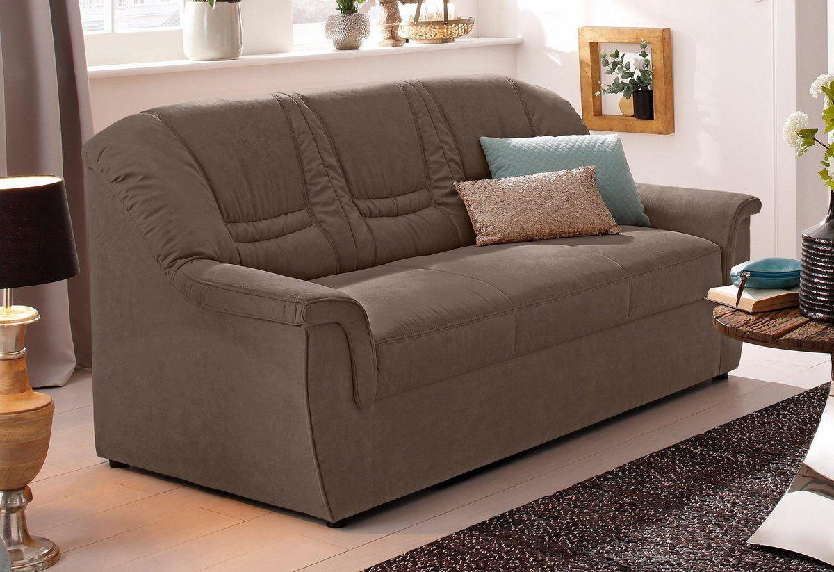 Home Affaire 3 Sitzer Zoe Mit Federkern Polsterung In 3 Qualitaten Online Kaufen 3 Sitzer Sofa Sofa Leder Braun Sofas