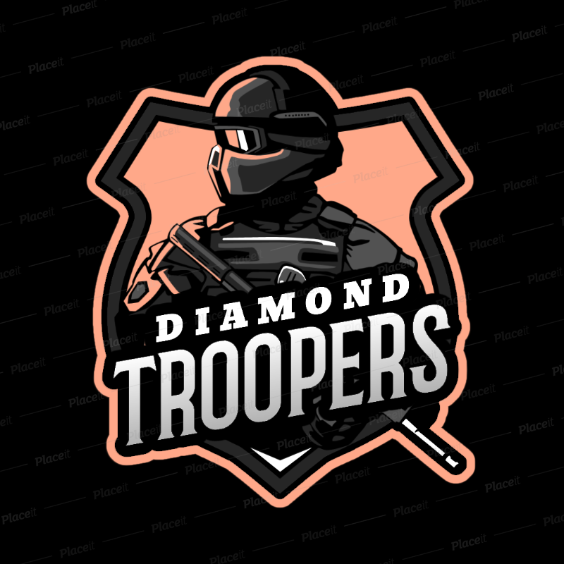 Placeit Gaming Logo Generator Featuring An Elite Force Soldier Illustration Logo Maker Game Logo Design Soldier Graphic