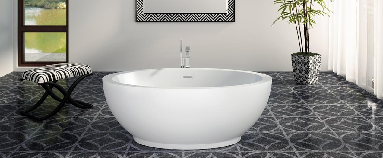 OPALIA 6839 Centered Ellipse air jet bathtub for your master ...