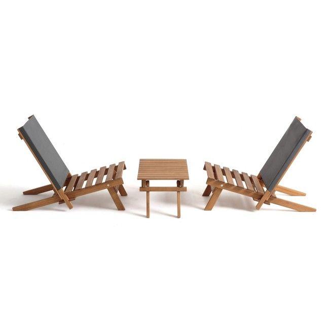 Lensemble De Jardin Oparon 2 Chaises Basses Et 1 Table Basse Emporter