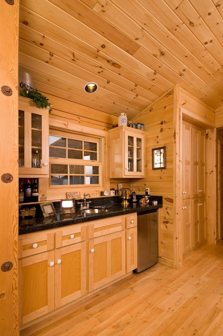 Best Kitchen Gallery: Tongue Groove Pine For Partition Walls Bert's Cabin Decor of Knotty Pine Kitchen Decor on rachelxblog.com