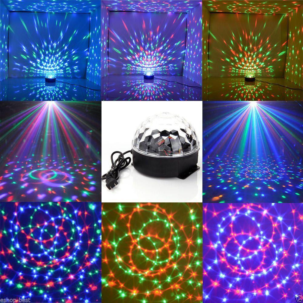 Dj Club Disco Ktv Party Bar Rgb Crystal Led Ball Projector Stage Effect Light Led Disco Lights Crystal Magic Ball Led Crystal Magic Ball