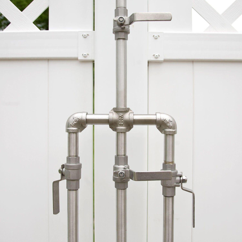 Deluxe Outdoor Shower Mixer With Foot Shower Outdoor Showers Outdoor Outdoor Shower Fixtures Outdoor Shower Outdoor Baths