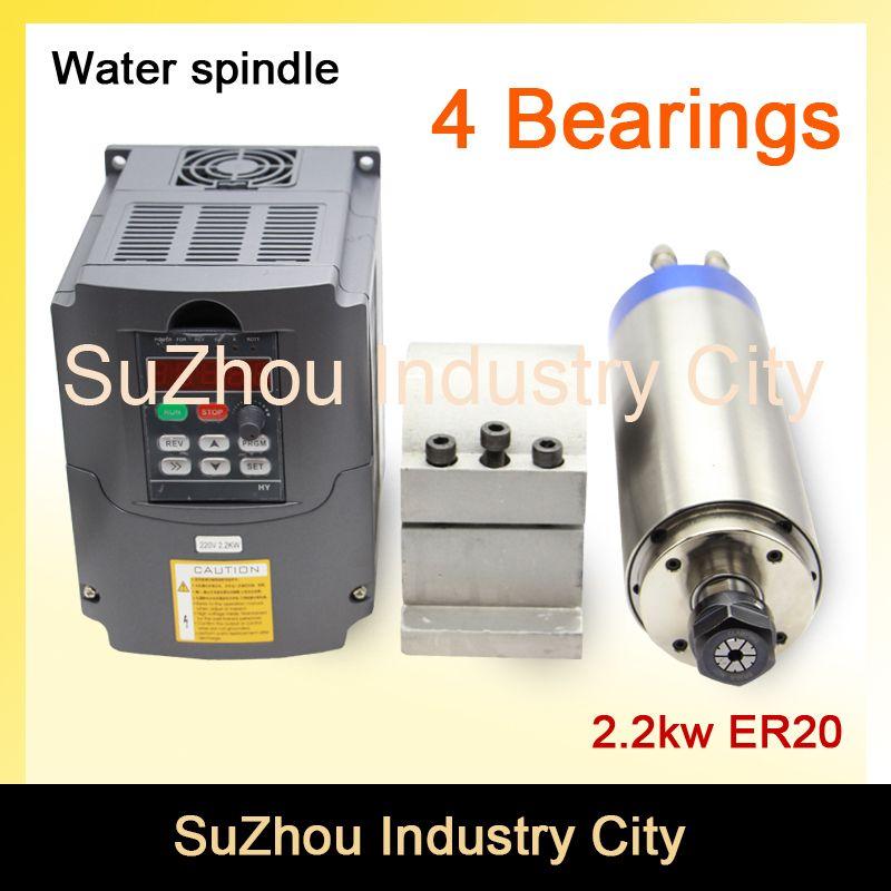 Sale Cnc Spindle Motor Water Cooling 2 2kw Er20 220v 2 2kw Vfd