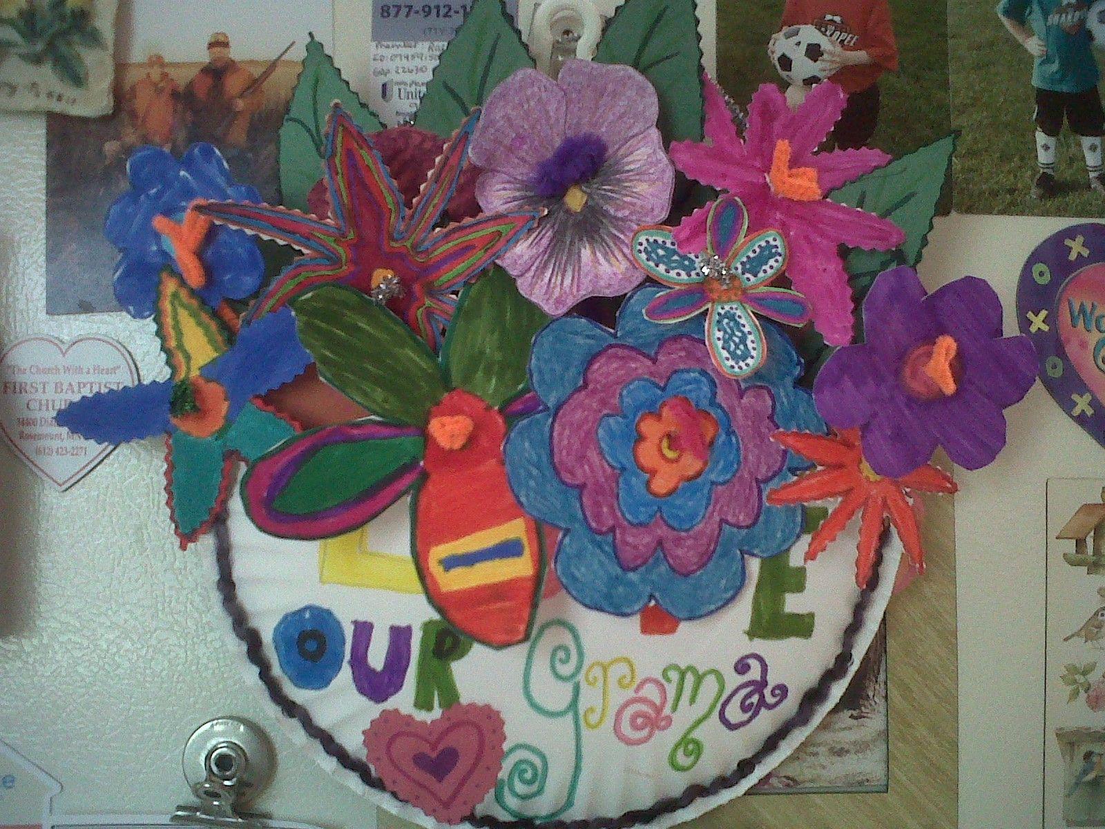 Paper plate flowers basket flower shapes drawn on paper plates paper plate flowers basket flower shapes drawn on paper plates then cut out mightylinksfo