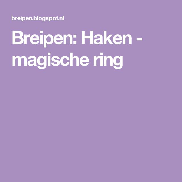 Breipen: Haken - magische ring