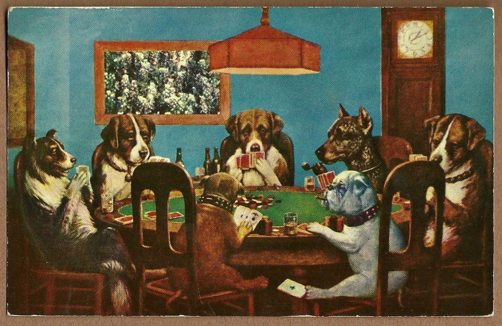 Vintage Dogs Playing Poker Original Pp 1677 1l Jpg Dogs Playing Poker Vintage Postcard Vintage Comics