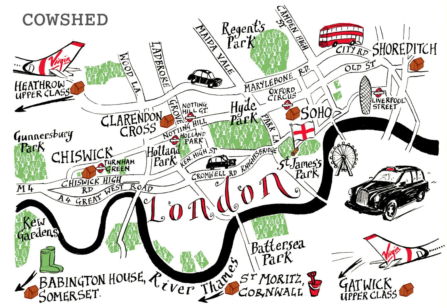 Easy London Map.Pin By Antonio Cau Illustrazioni On City Map London Map London