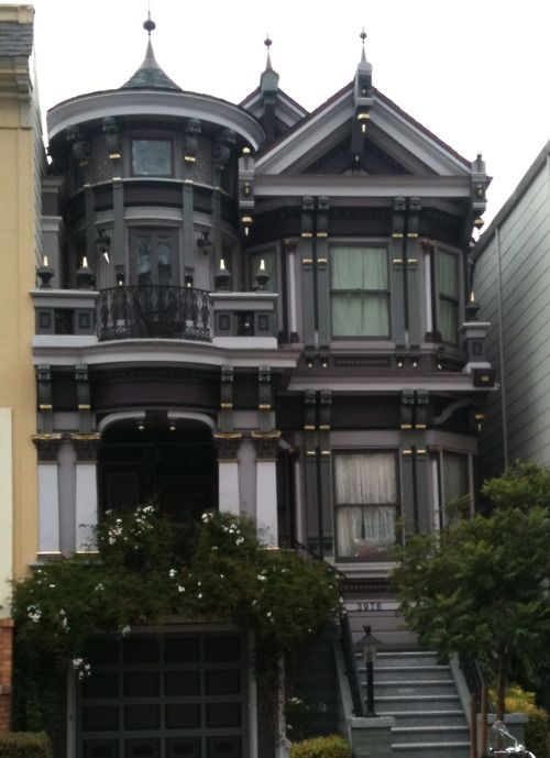 You don\'t normally see a darkly painted Victorian house. | my ...