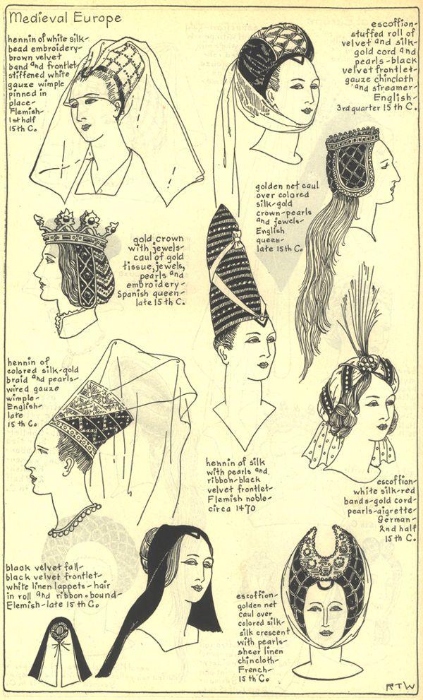 Chapter 7 Medieval Or Gothic Europe Plate 25 25 Costume Medieval Chapeaux Vintage Histoire De La Mode