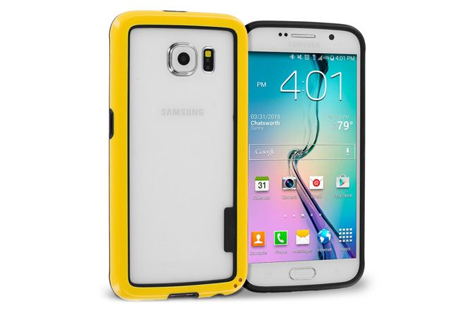 Solid Color Bumper Frame Over Mold Hybrid Protector Cases For Samsung Galaxy S6 Samsung Samsung Galaxy S6 Galaxy S6 Case