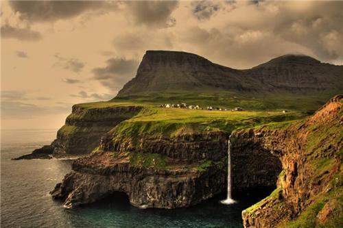 Gasadalur, Faroe Islands, Norwegian Sea