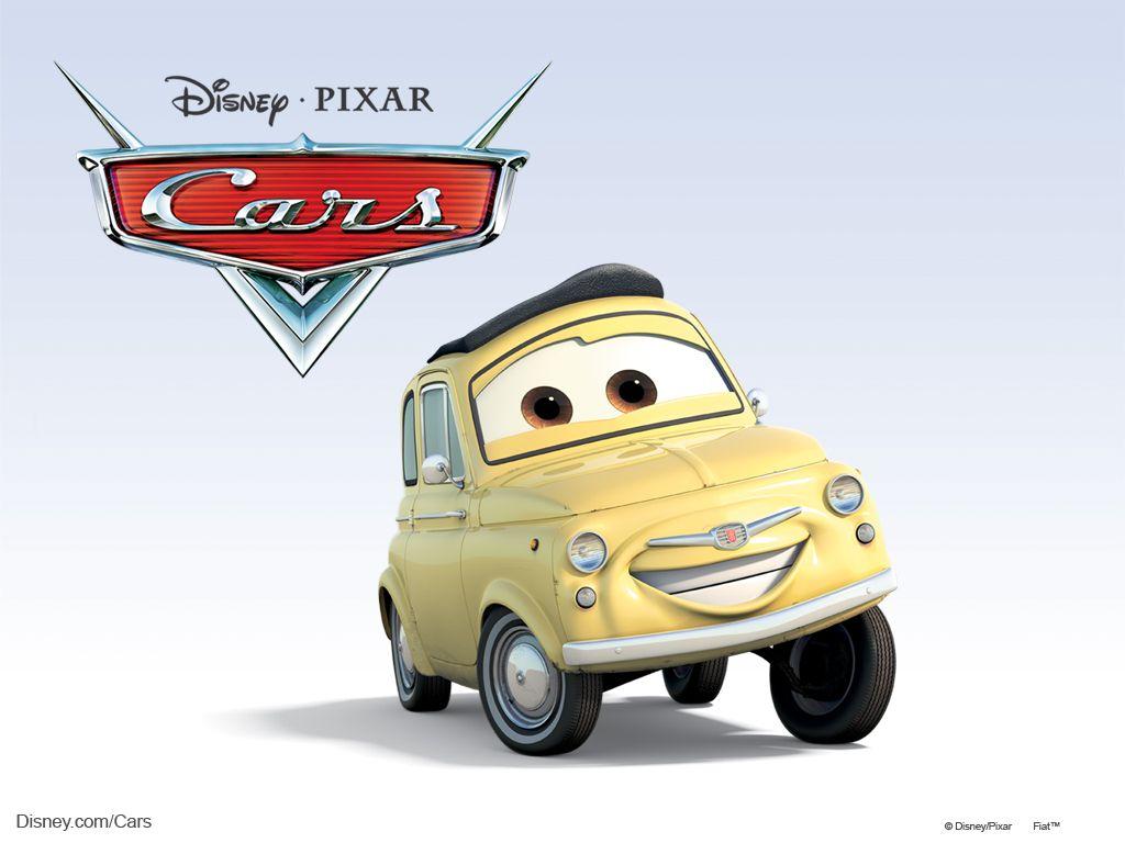 disneypixar cars characters luigi 1959 fiat 500 cars