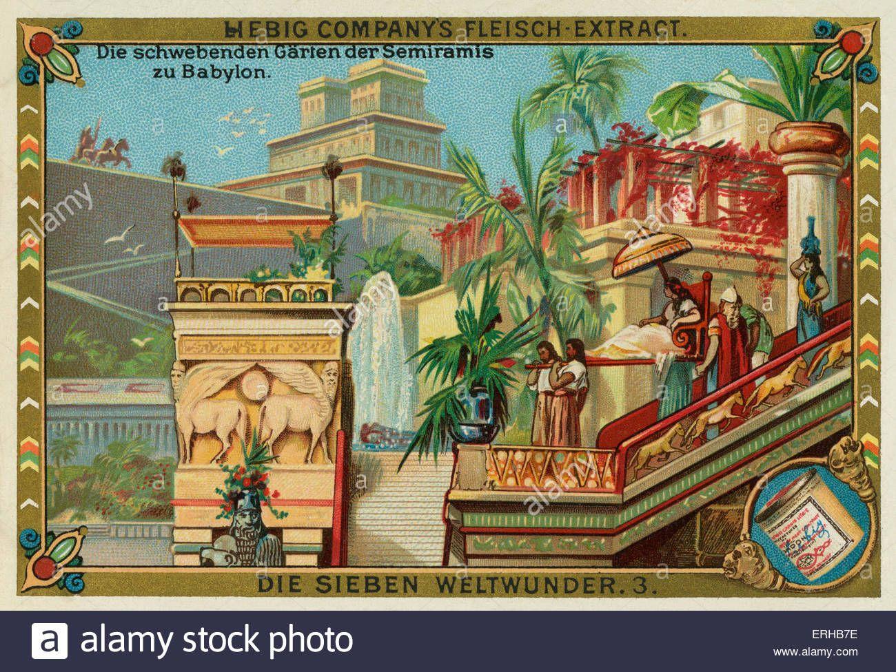 Stock Photo The Hanging Gardens Of Babylon German Title Die Schwebenden Garten Der Semiramis Zu Baby Gardens Of Babylon Hanging Garden Wonders Of The World