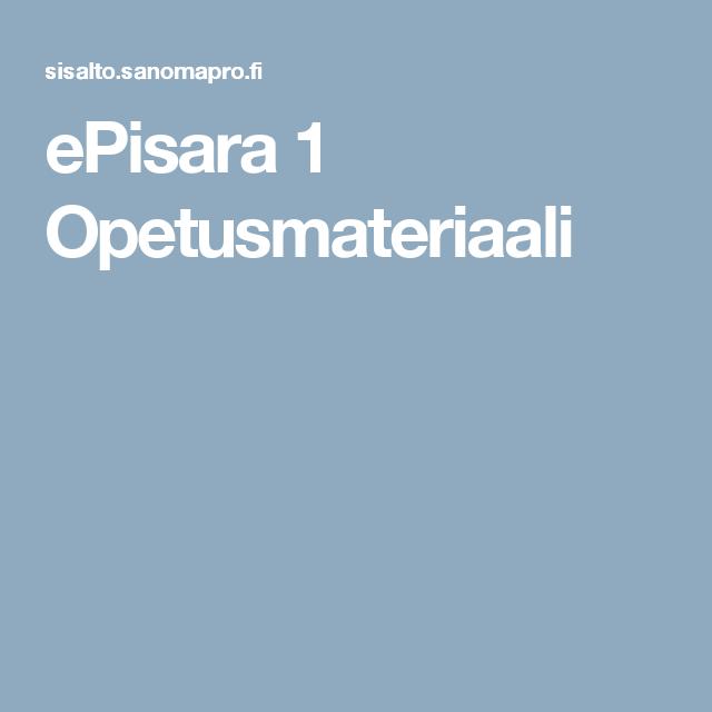 ePisara 1 Opetusmateriaali