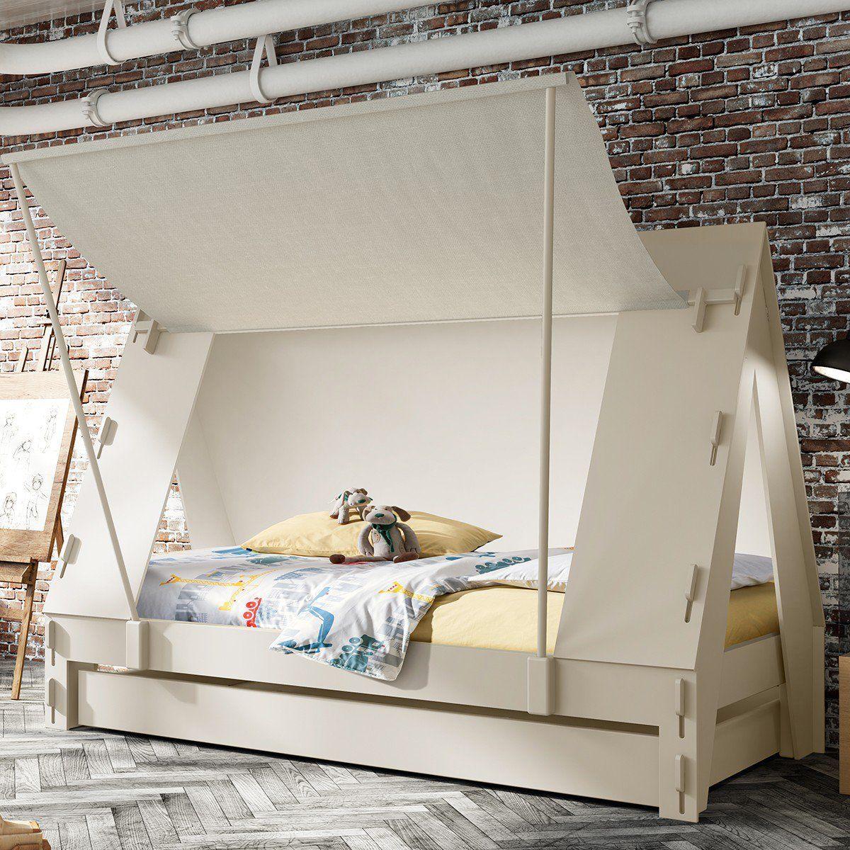 un lit cabane blanc pour enfant inspiration scandinave. Black Bedroom Furniture Sets. Home Design Ideas