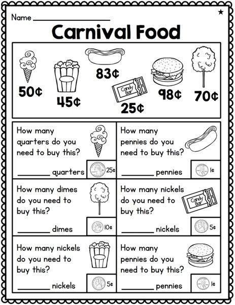 First Grade Money Unit 6 Common Core Aligned Differentiated