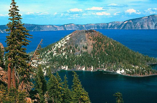 WIZARD ISLAND, CRATER LAKE NP by Chuck Wickham