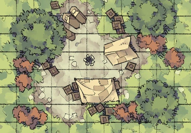 Roadside Camp | Maps | Map, Forest map, Dungeon maps
