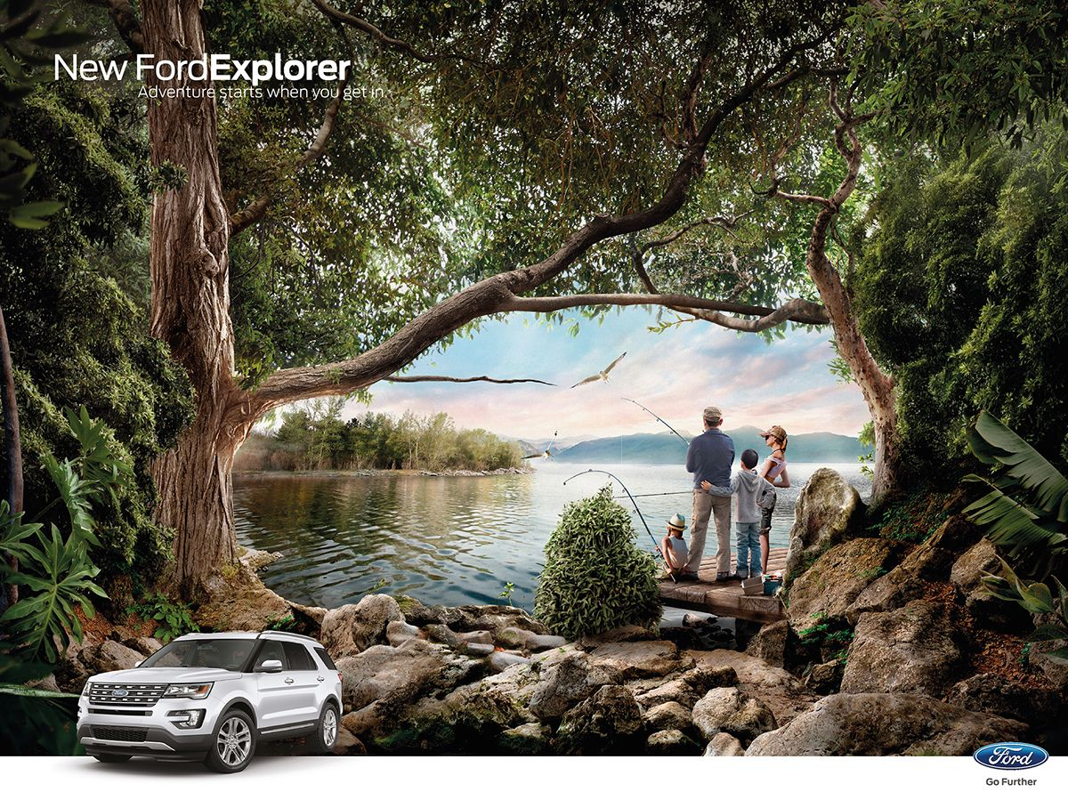 Ford New Explorer On Behance Visual Advertising Creative