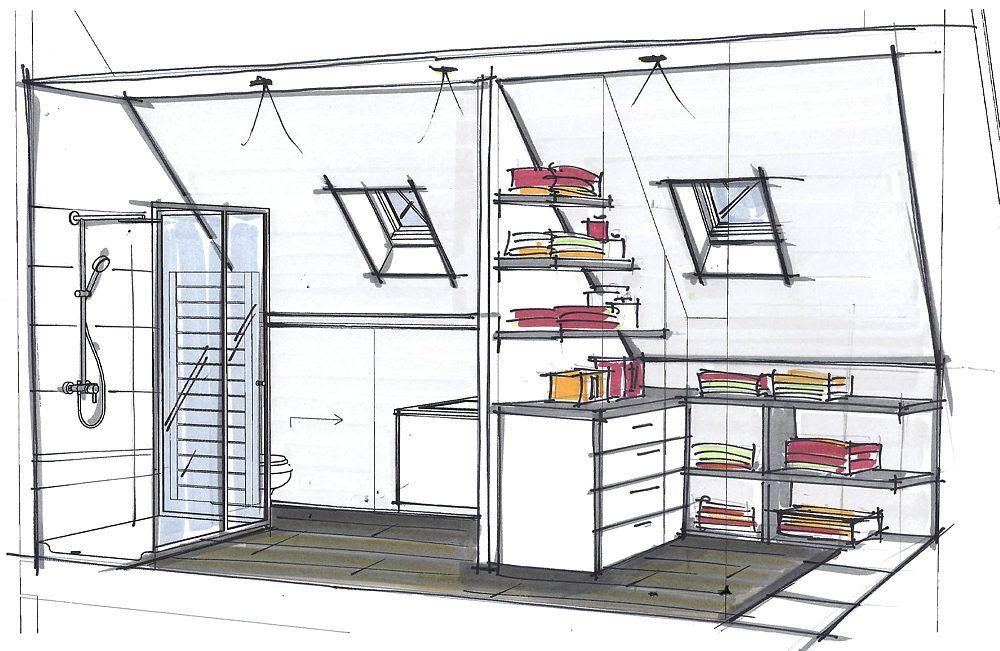 croquis petits espaces en 2019 pinterest salle de. Black Bedroom Furniture Sets. Home Design Ideas