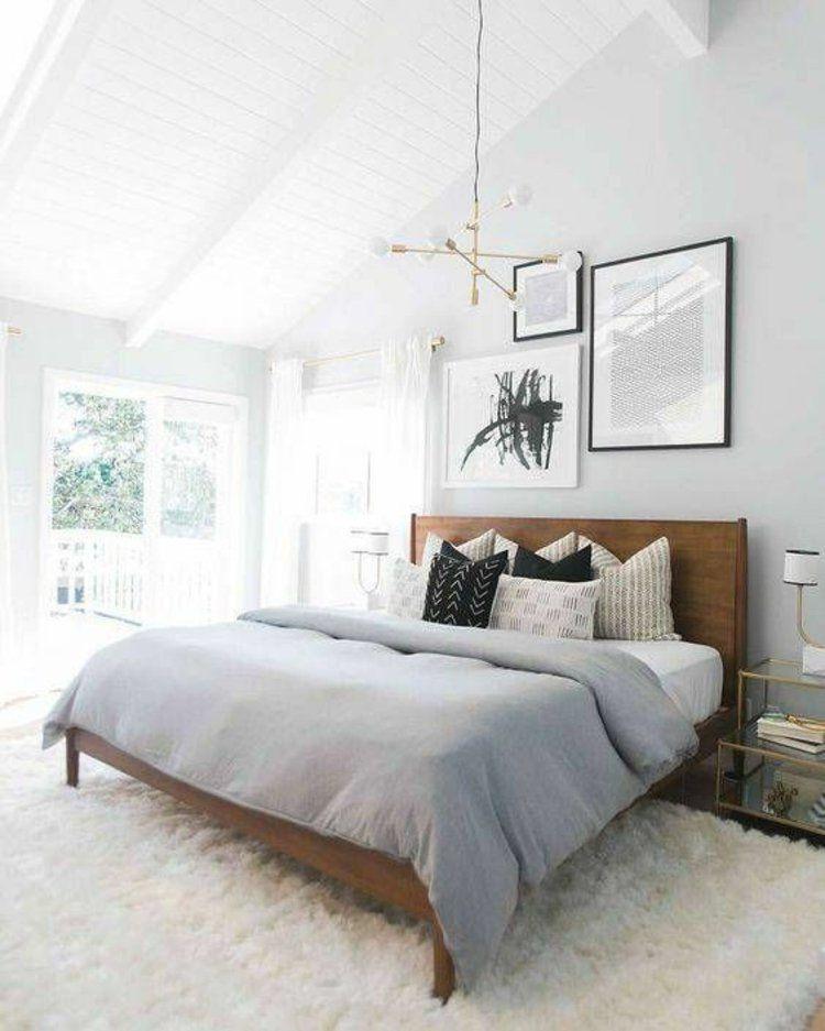 Awesome Schlafzimmer Gestaltung Tipps 2 #11: Helles Schlafzimmer Gestalten Wanddeko Ideen