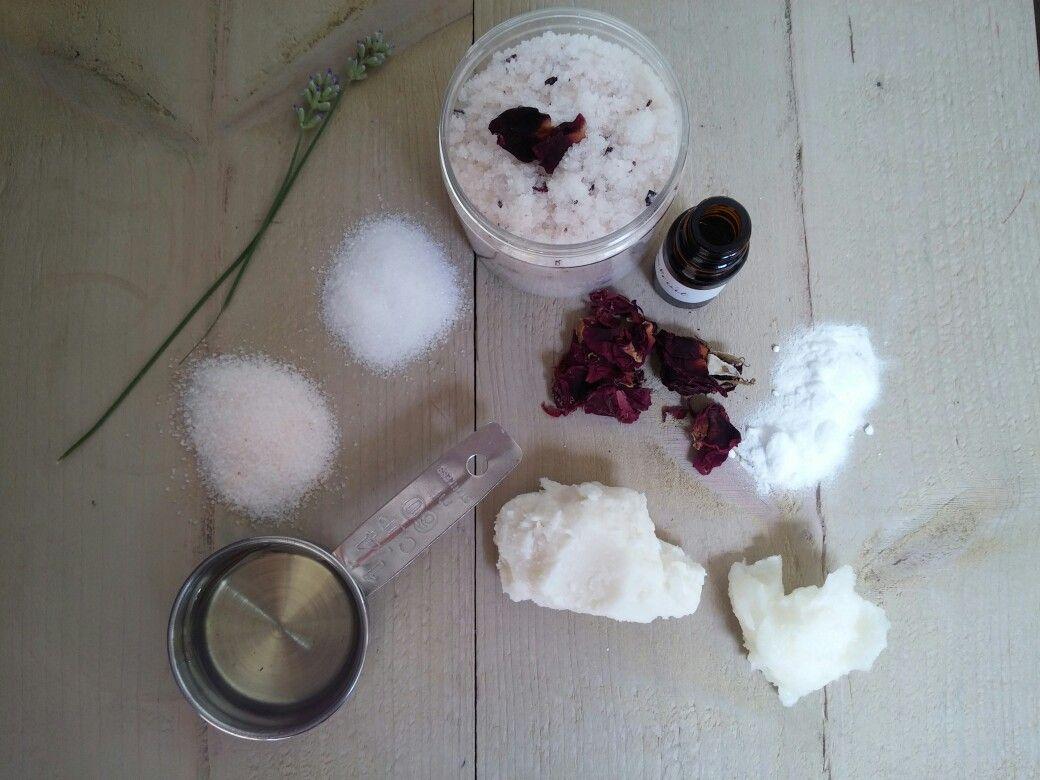 Ingredients bodypolish by Mrs. Miller botanical beauty