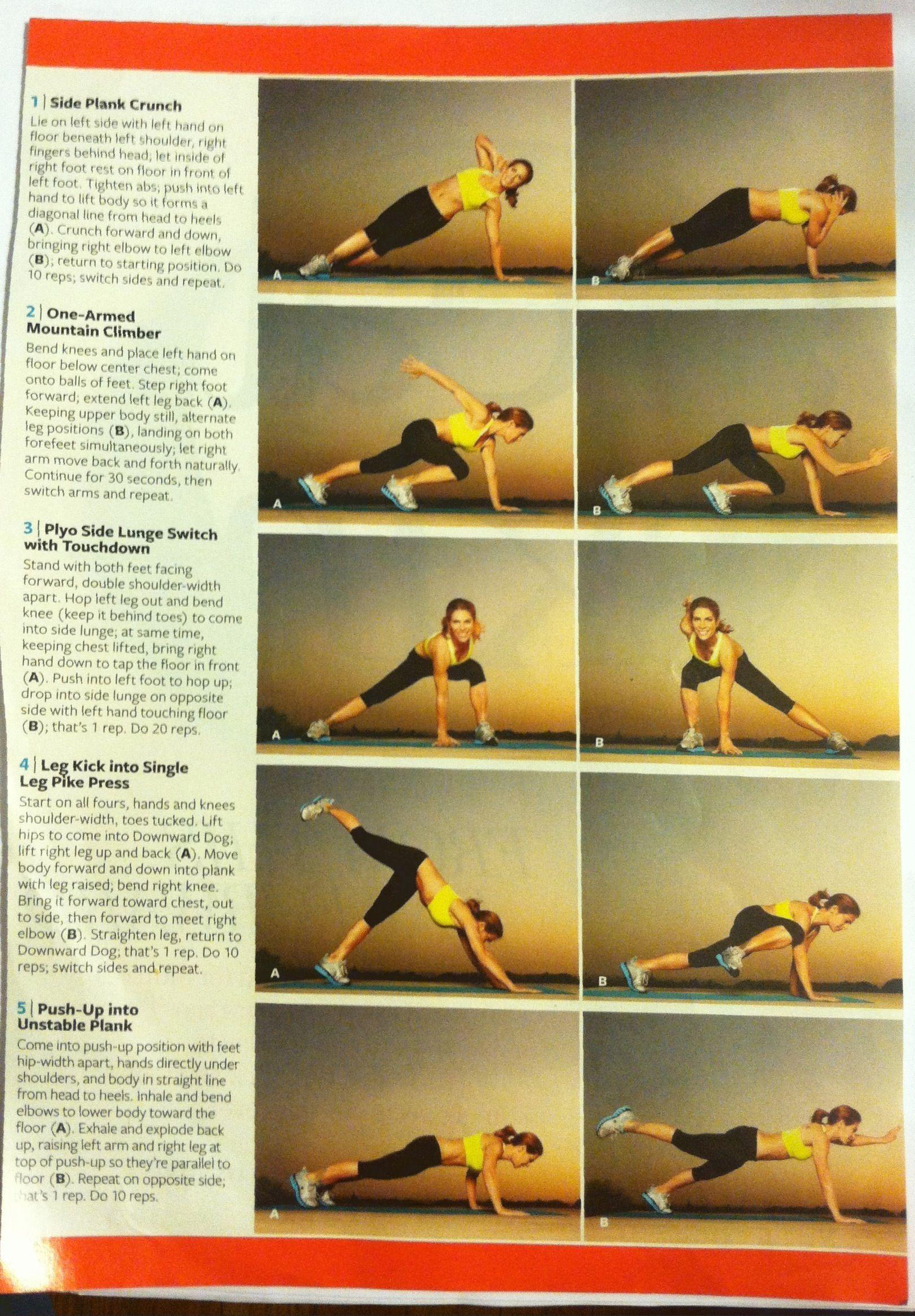 Jillian michael's body weight workout
