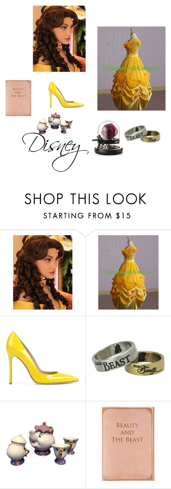 """Belle"" by anitacookiemonster129-1234 ❤ liked on Polyvore featuring Disney, Gianvito Rossi and Conran"