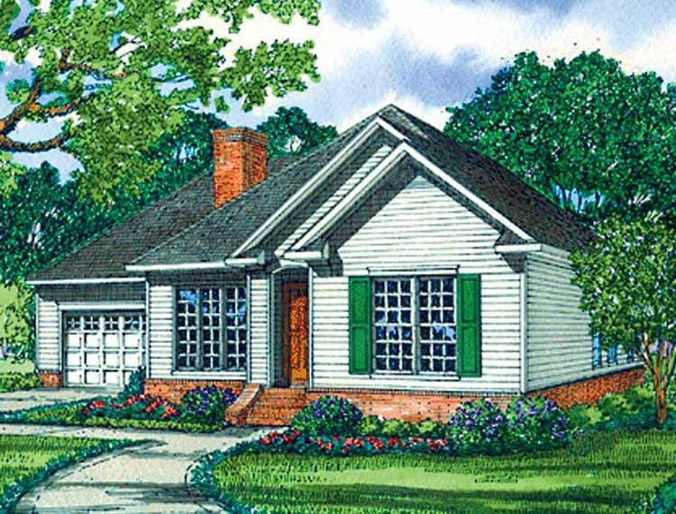 Eplans Cottage House Plan - Three Bedroom Cottage - 1598 Square Feet and 3 Bedrooms from Eplans - House Plan Code HWEPL64202