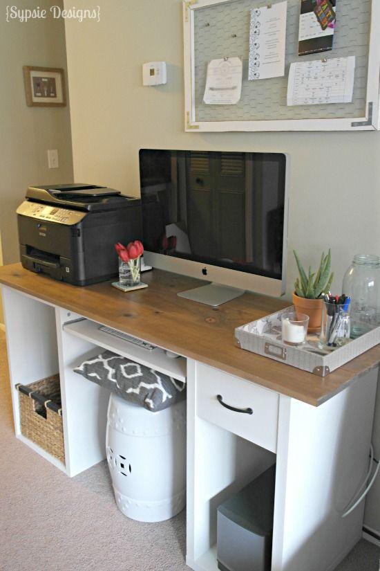 Ikea Desk Transformation Ikea Desk Desk Makeover Diy Painting