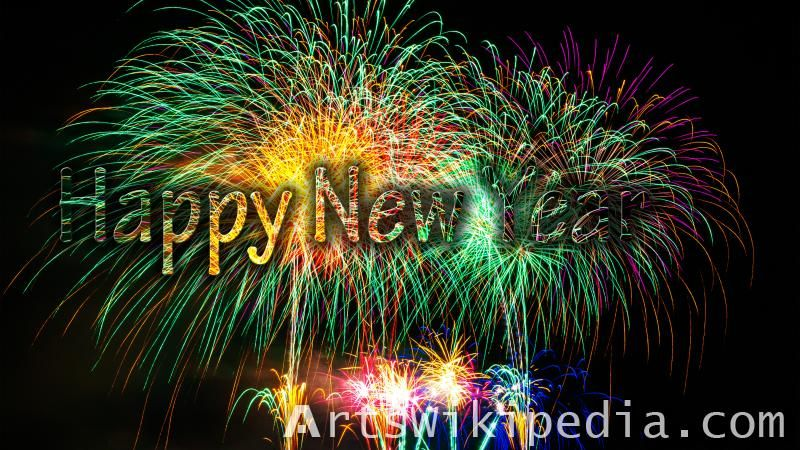 Happy New Year Fireworks Colors Picture Happy New Year Fireworks New Year Fireworks Firework Colors