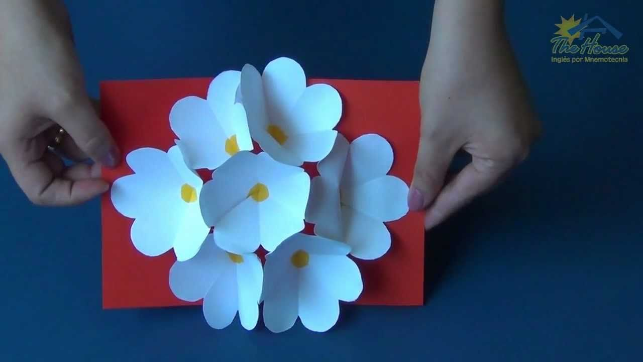 The house piracicaba d flower pop up card diy pinterest d