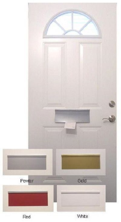 Magnetic Mail Slot Covers Save Energy, White