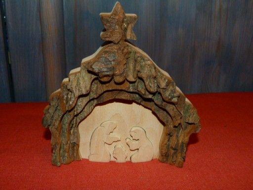 Drewniany Stroik Szopka Rzezbiona Ozdoba Swiatec 6638779157 Oficjalne Archiwum Allegro Lion Sculpture Painting Art