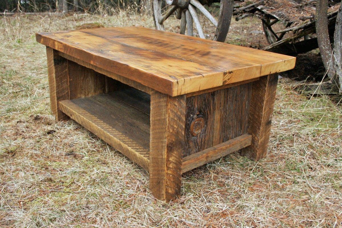 barn wood coffee table #2