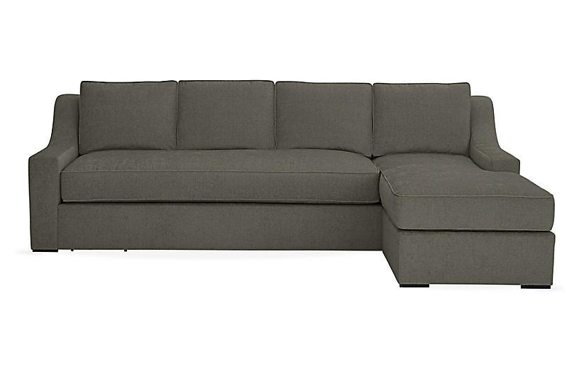 Super Studio 114 Sectional W Movable Ottoman Smoke Ash Inzonedesignstudio Interior Chair Design Inzonedesignstudiocom