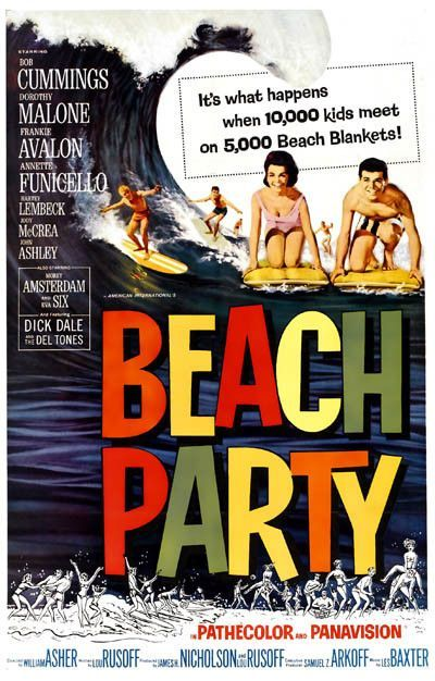 Beach Party Movie Poster 11x17 Beach blanket and Products - fresh blueprint party band
