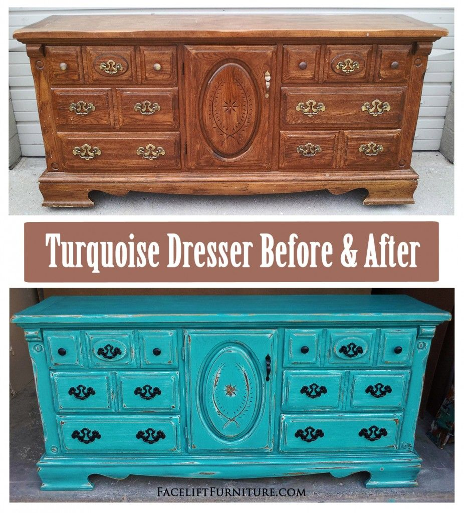 Best Rustic Turquoise Dresser – Before After Turquoise 400 x 300
