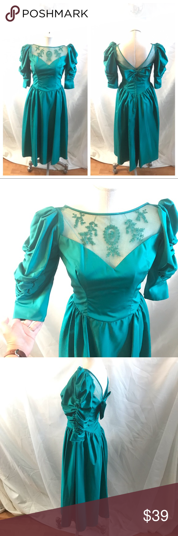 Vintage 80s 90s Puffy Sleeve Prom Bridesmaid Dress Prom Dresses Vintage Bridesmaid Dresses Prom Dresses [ 1740 x 580 Pixel ]